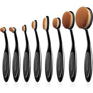 PINCEAUX DE MAQUILLAGE EmaxDesign ovale Set de pinceaux à maquillage, 8 P