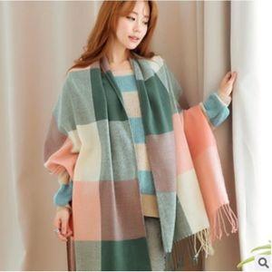 ECHARPE - FOULARD Mode laine hiver écharpe femmes écharpe à carreaux 2ea7e692ea2