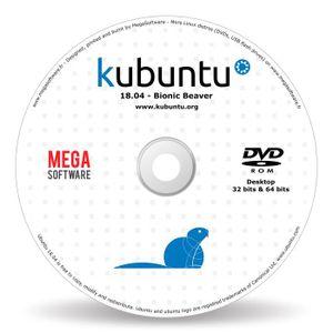 SYSTÈME D'EXPLOITATION Kubuntu 18.04 Live - 32 & 64 bits - DVD