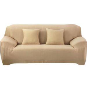 housse clic clac beige achat vente pas cher. Black Bedroom Furniture Sets. Home Design Ideas