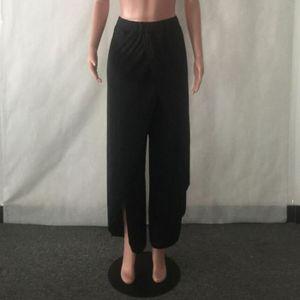 Taille sexy Pantalon large jambe Flowy Femmes Casual l été Pantalon de yoga  en vrac yjk d3ea7d42af4b