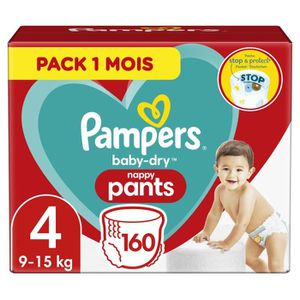 COUCHE PAMPERS Baby-Dry Pants Taille 4 , 9-15kg, 160 Couc