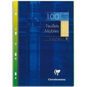FEUILLET MOBILE Lot de 5 Etui 100 feuillets mobiles, Format 21 x 2