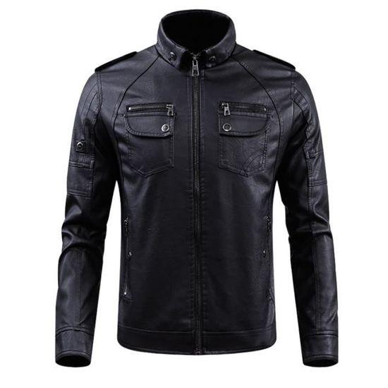 Tempérament Loisir Coupe Style Nouveau Pu Veste Homme Slim Mode Eq4wxwYta