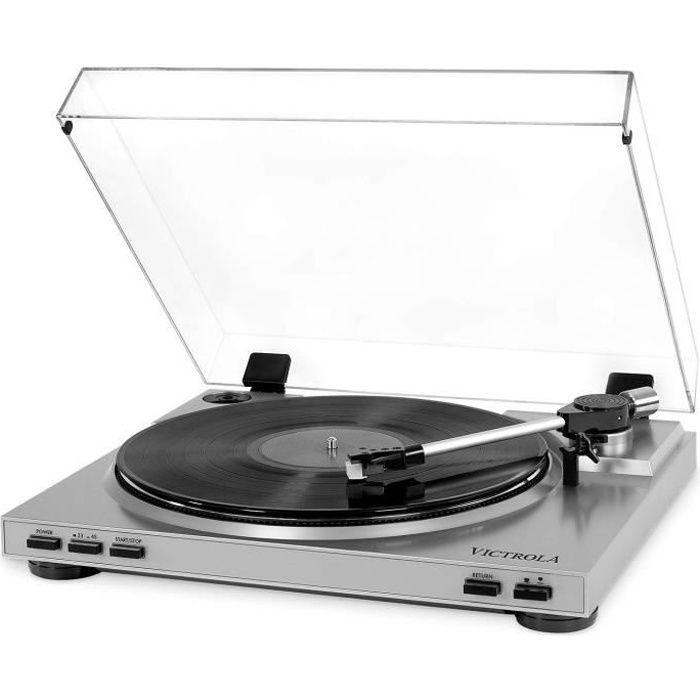 Victrola VPRO-3100 - Platine Vinile Semi-Automatique USB - Vinyle à MP3 - Silver