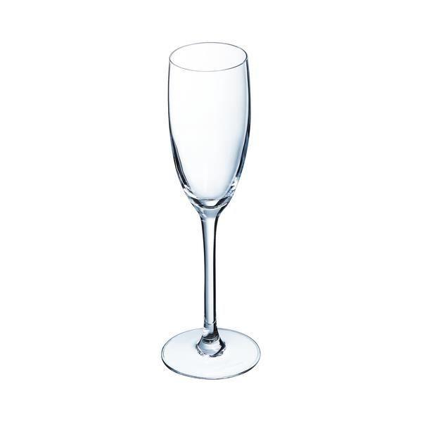 Arcoroc carbenet lot de 6 flûtes à champagne 16 cl transparent