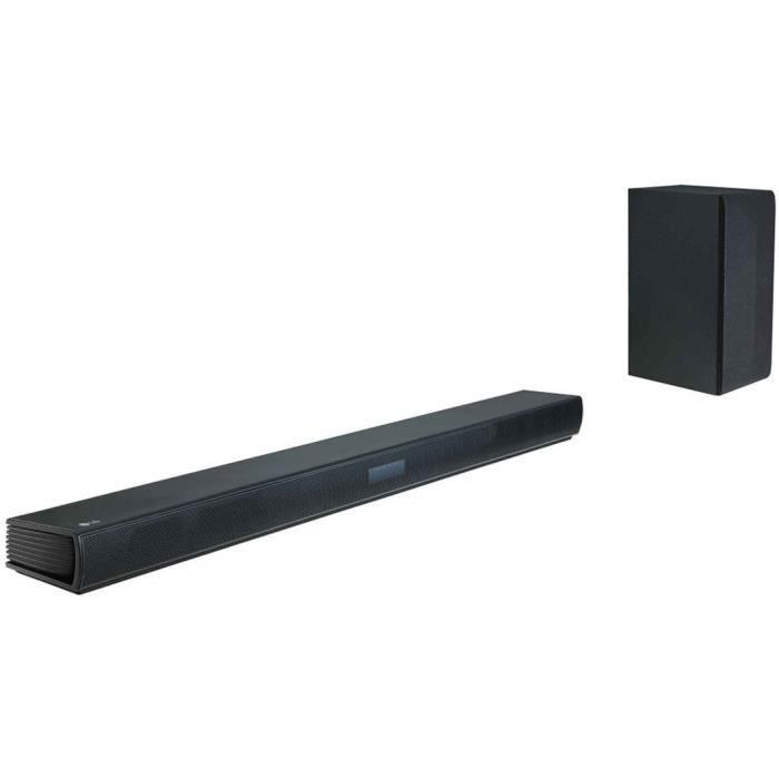 LG SK4D Barre de son 2.1 Bluetooth - 300W - Caisson de Basses sans fil - Noir