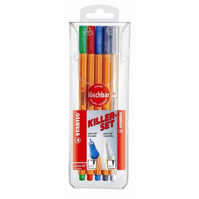 Stabilo feutre point 88, killerset de 5 stylos
