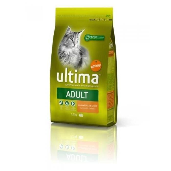 Ultima - Croquettes au poulet - Pour chat adulte - 1,5kg