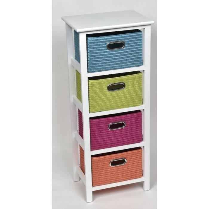 Meuble multicolore 4 tiroirs, grand modèle - Achat / Vente meuble ...
