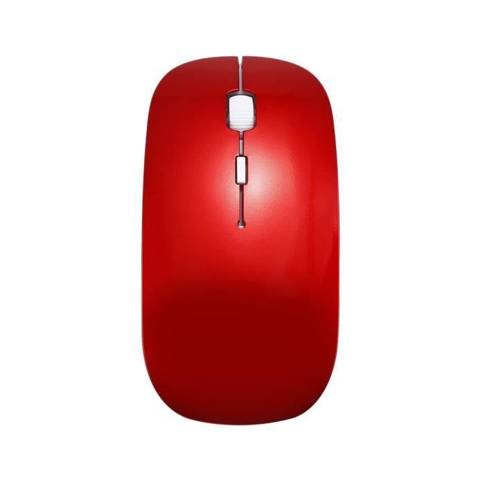 SOURIS rouge 2.4G sans fil 3 touches souris à piles Souri