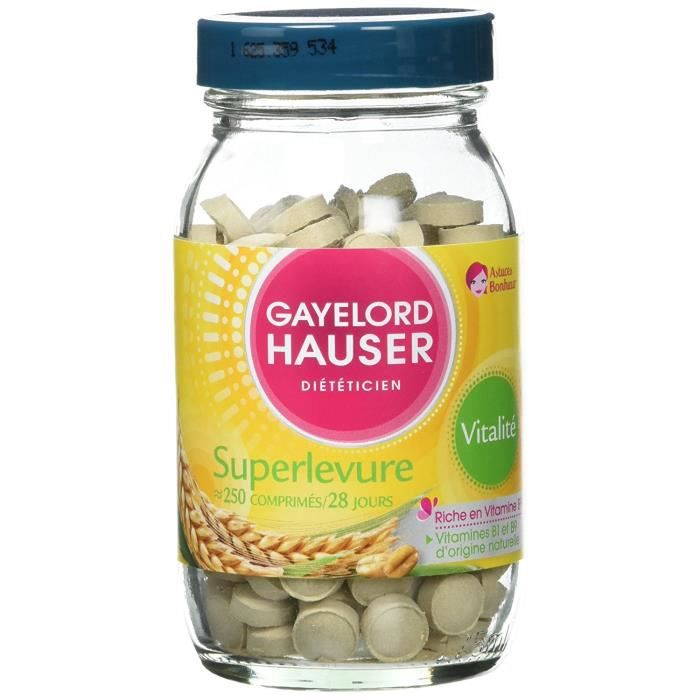 COMPLÉMENT EN MINÉRAUX Gayelord Hauser Superlevure Comprimes Multi-vitami