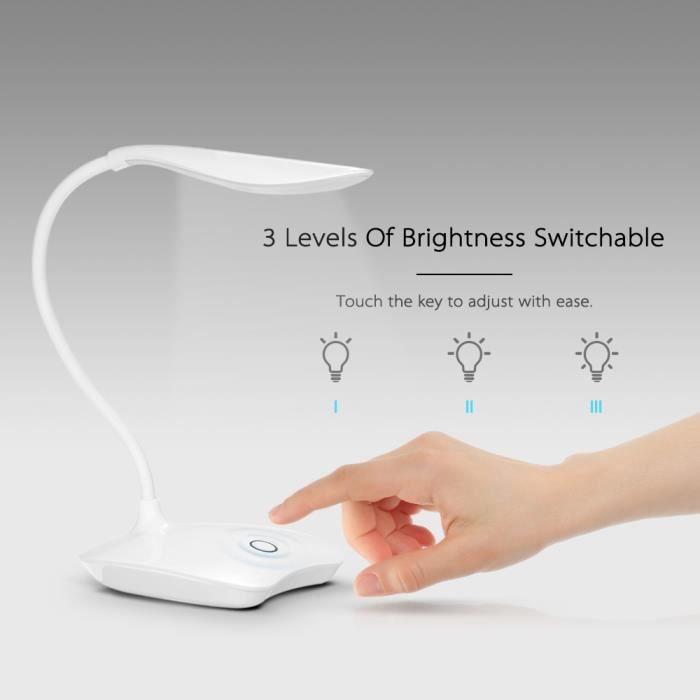 Usb Led Blanc Flexible Lampe ° Bureau Pour Table Lumière Avec eWdCBQrxoE