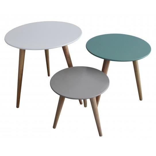 set 3 tables gigognes stockholm achat vente console set 3 tables gigognes stock cdiscount. Black Bedroom Furniture Sets. Home Design Ideas
