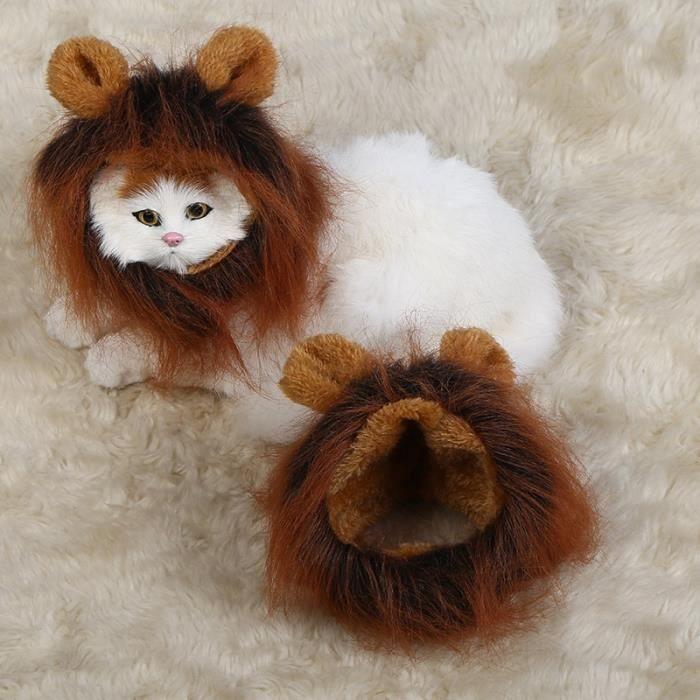 Costume Casqeutte Du Mignon Pour Crinière Chat Chiot Lion Nv8n0mw
