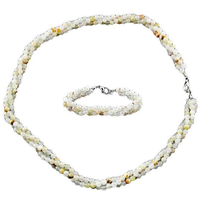 Parure Bijou perle de rocaille Pierres multicolores Femme Multicolore Marvia