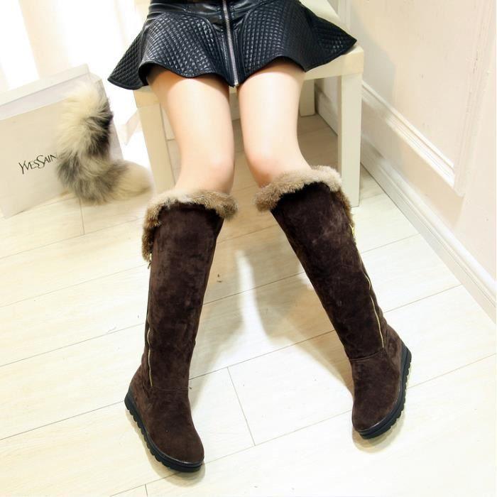 martin boots-Pure Color talon plat femme avec S...