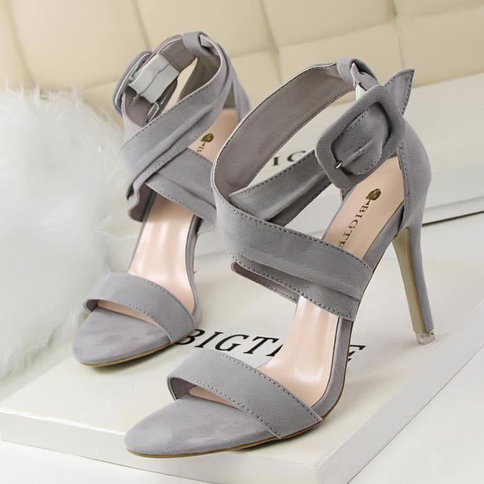 OLALI® D'été Mode Sexy Mince Ceinture Boucle Haute Talons Chaussures
