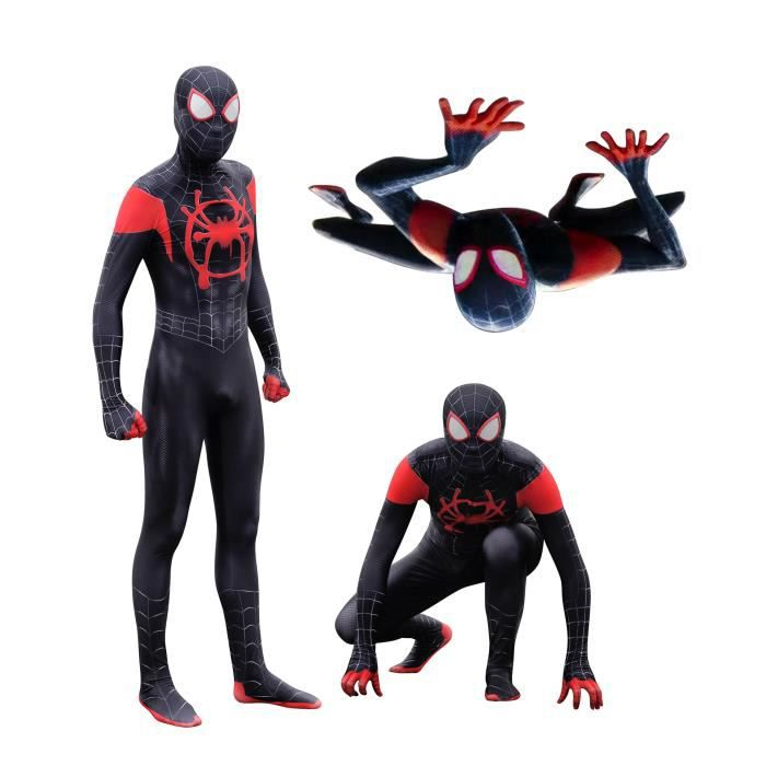 8535beb8e68300 OFNYCOS-Déguisement Spider-Man Noir Cosplay Costume Adulte Déguisement  Party Halloween Full Body Justaucorps