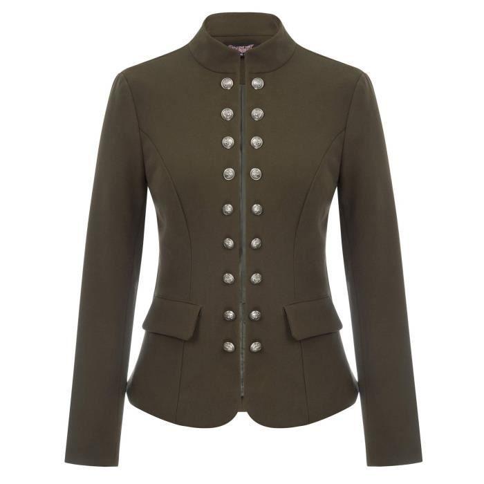 Cardigan Costume Gothic Taille Femmes Xkyyh Ouvert Blazer Victorienne Steampunk m Front Veste OOX6Rq