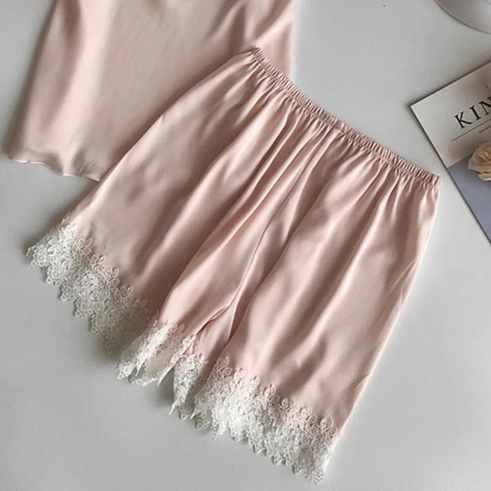 Femmes Dentelle Pyjamas Pantalons orange De Babydoll Lingerie Nuit Sous vêtements Sexy r5Sqwr