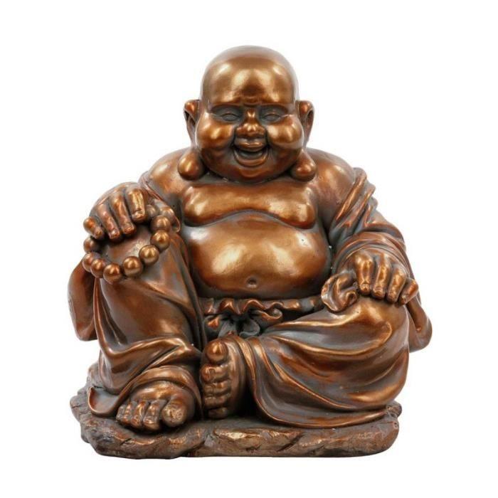 paris prix statue bouddha rieur 36cm cuivre marron. Black Bedroom Furniture Sets. Home Design Ideas