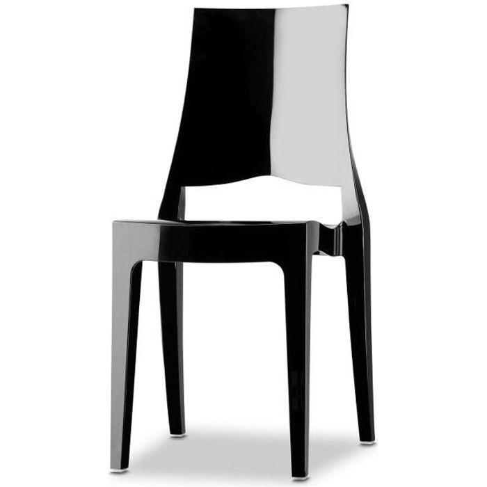 chaise chaise noire design glenda vendu a l unite - Chaise Noire Design