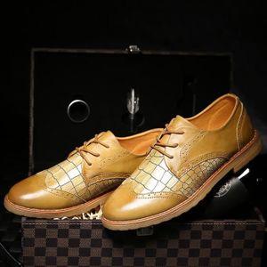Mocassins en cuir Chaussures Oxford pour Chaussures habillées en cuir véritable homme rétro Derbies hommes,marron,39,127_127