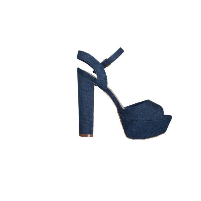 haut jeans sandales sandales bleu jeans bleu talon sandales talon haut talon ASxZwUAn6W