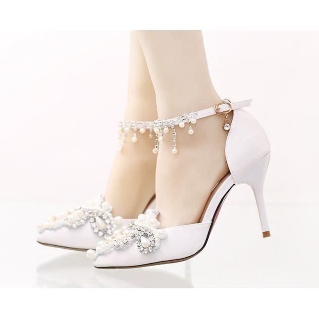 De Mariage Strass Cm chaussures Haut 9 Soire Perles Et Talon escarpins emilie Pour Vogue Orn Escarpins Des Hx5wqYx