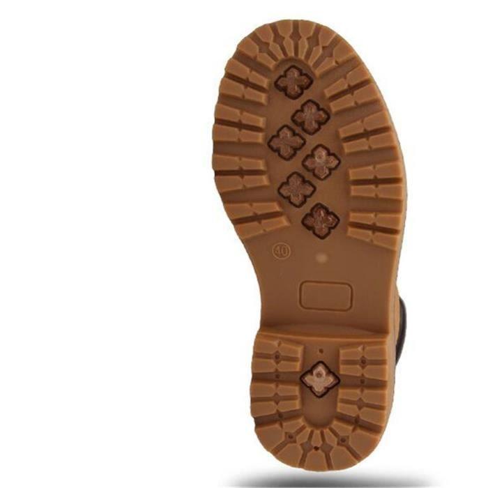Martin Bottines Hommes Durable Durable En Cuir Peluche Boots YLG-XZ030Jaune45-jr