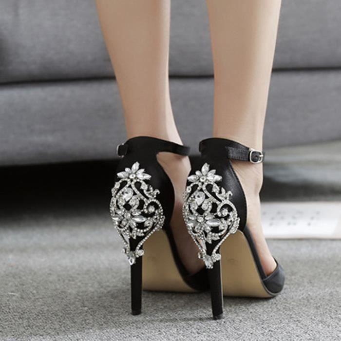 Sandales De Hauts Lhl80316775bk Diamant Femmes Mode Partie Luxe Mariage Talons D'été Noir Banconre®talons y5qd4BYwY