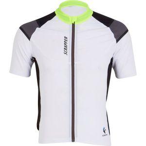 MAILLOT DE CYCLISME SCRAPPER Maillot Vélo Homme Team - Blanc Jaune