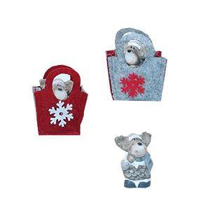 petit sujet de noel Mel O Design   Petit Sujet de Noël Elan Dans Sac   Coloris  petit sujet de noel