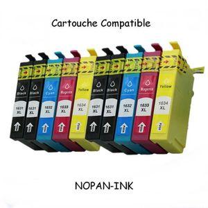 CARTOUCHE IMPRIMANTE 10 Cartouches compatible EPSON T1631-T1632-T1633-T