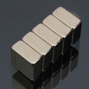 AIMANTS - MAGNETS 5Pcs N52 Aimants Puissant Bloc Magnet 10x10x5mm