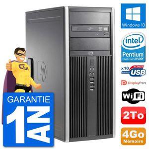 ORDI BUREAU RECONDITIONNÉ PC Tour HP 8200 Intel G630 RAM 4Go Disque Dur 2To