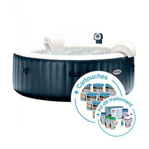 SPA COMPLET - KIT SPA Spa gonflable Intex PureSpa Plus Bulles 6 places + 2ebcc5a756a8