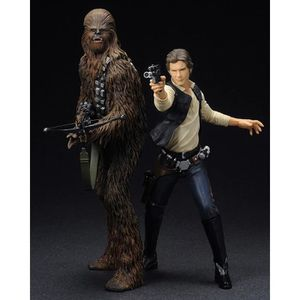 FIGURINE - PERSONNAGE Pack 2 statuettes Star Wars : Han Solo & Chewbacca
