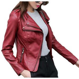 veste en cuir rouge bordeaux femme manteaux populaires et branch s en france. Black Bedroom Furniture Sets. Home Design Ideas