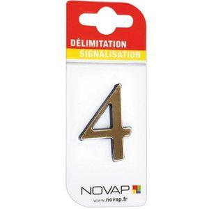 CONE - RUBAN CHANTIER Adhésif plastique en relief coloris or Novap - 4
