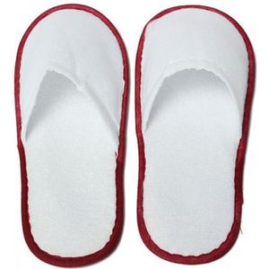 20 paires de White Towelling Hotel jetables Chaussons Terry Spa Guest chaussures bleues gkMgX
