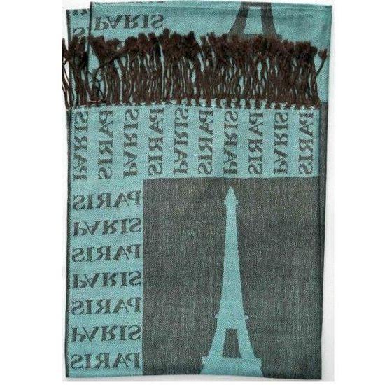 f60f34074418 Echarpe d été Tour Eiffel Paris couleur   VERT BOUTEILLE - Achat   Vente  echarpe - foulard 3700586016071 - Cdiscount