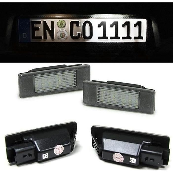 Eclairage Plaque D Immatriculation 36 Led Smd Peugeot 106 1007 307