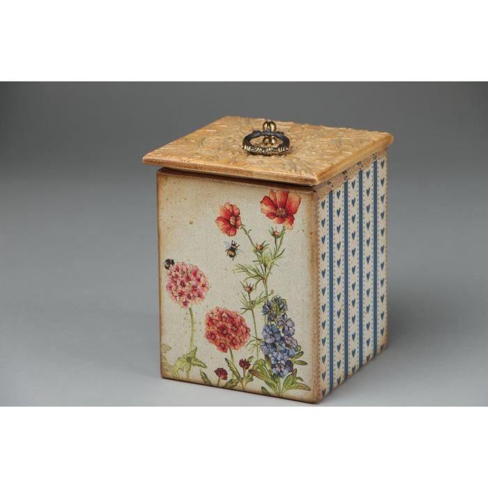 boite de rangement pour cuisine serviettage achat vente objet d coratif cdiscount. Black Bedroom Furniture Sets. Home Design Ideas