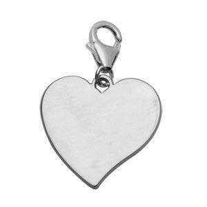 Charms Argent 925 Coeur à Graver