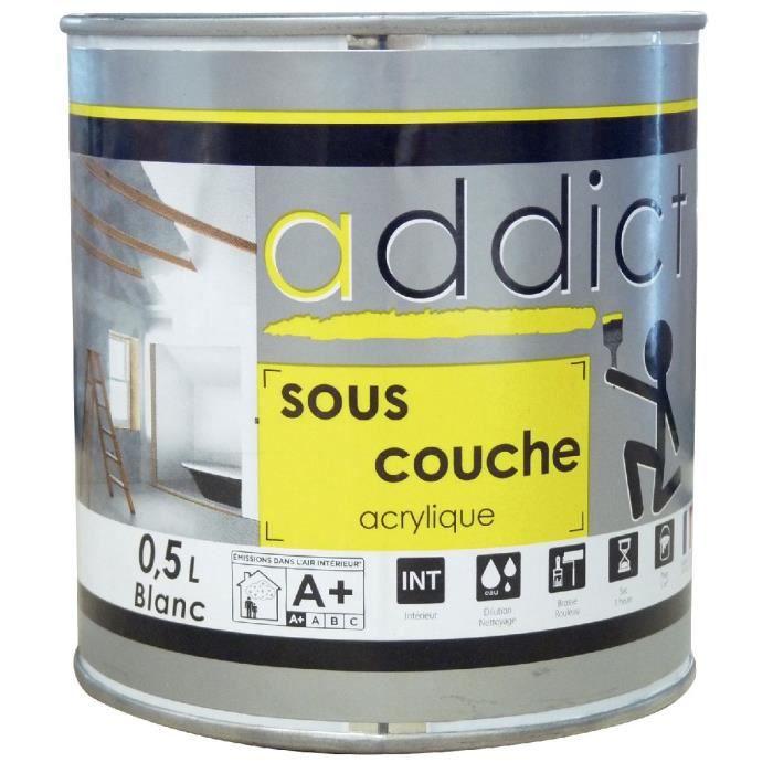 PEINTURE   VERNIS Peinture Addict Sous Couche Addict Boîte 0,5l.