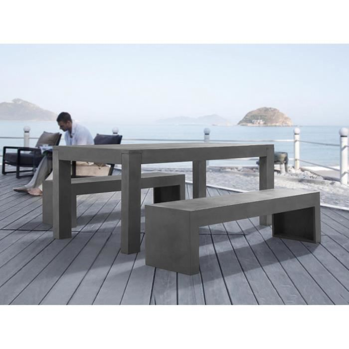Ce mobilier unique en béton est tendance et rendra votre jardin ...