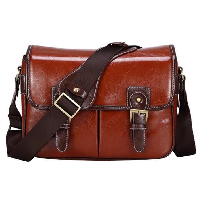 imperméables slr - dslr sac photo vintage de sac à bandoulière pour Canon Sony Nikon Olympus du sac en cuir