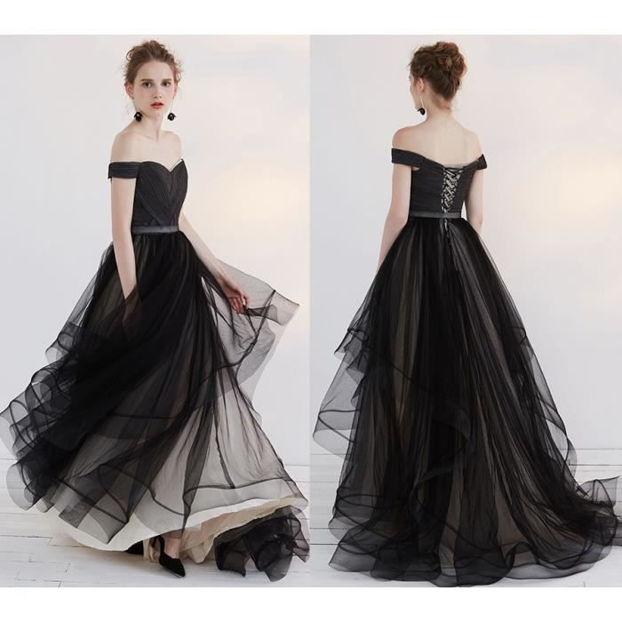 Robe noire mariage tulle